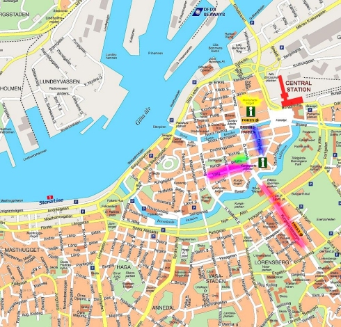 Gothenburg shopping map